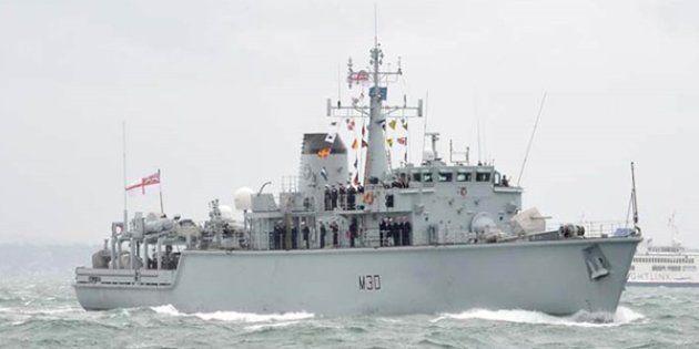 動画でクレア・トンプソンさんが操っていた掃海艇「HMSLedbury(M30)」