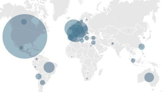 Facebookが提供した個人情報の数をインフォグラフィックで表示