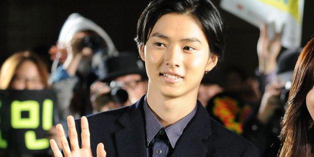 TOKYO, JAPAN - OCTOBER 17: (L-R) Actor Kento Yamazaki, actress Hyomin and director Naoto Kumazawa attend...