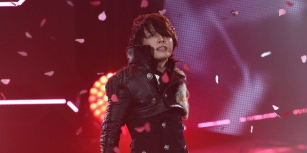 URAYASU, JAPAN - JUNE 14: Japanese singer T.M.Revolution performs onstage during MTV Video Music Awards...