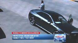 【動画】ディーラーを訪れた2人組がアウディ「RS5」の試乗車を乗り逃げ