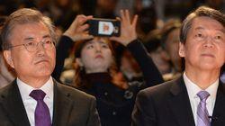 韓国大統領選、文在寅氏と安哲秀氏の二強体制に 最新の世論調査
