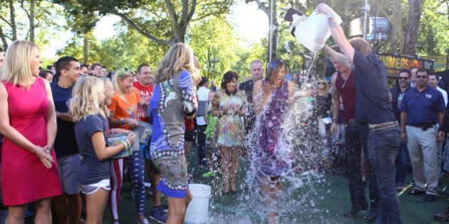 GOOD MORNING AMERICA - The GMA team gets soaked taking the Ice Bucket Challenge, promoting awareness...