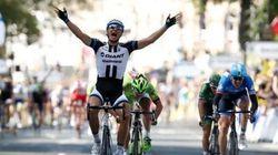 「ゴール前1kmを示すフラムルージュの直前で、歓声は悲鳴に変わった」ツール・ド・フランス2014 第1ステージ