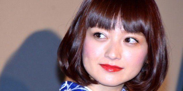 TOKYO, JAPAN - OCTOBER 27: (CHINA OUT) Japanese actress Yumi Adachi promotes new film 'Hanayoi Dochu'...