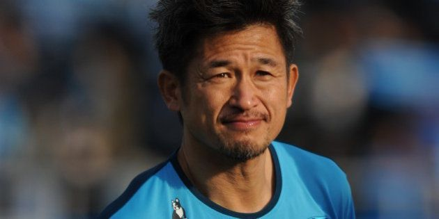 YOKOHAMA, JAPAN - MARCH 15: (EDITORIAL USE ONLY) Kazuyoshi Miura #11 of Yokohama FC looks on prior to...