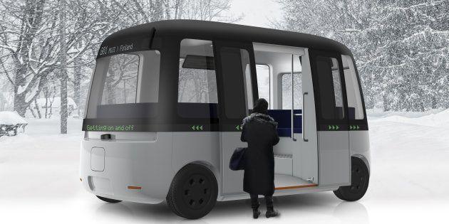 自動運転バスのイメージ図