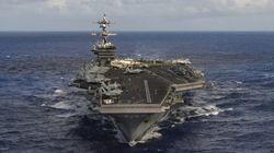 アメリカ海軍の空母打撃群、朝鮮半島に向けて航行 北朝鮮を牽制か