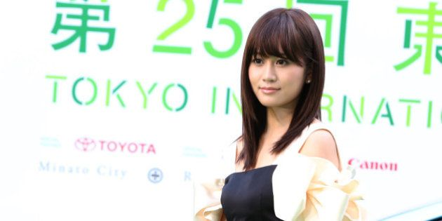 TOKYO, JAPAN - OCTOBER 20: Actress Atsuko Maeda attends the green carpet of the Tokyo International Film...