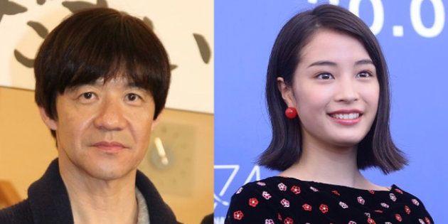 内村光良さん(左)と広瀬すずさん
