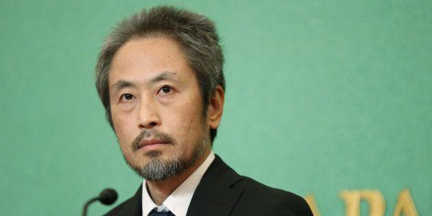 安田純平さん(写真は11月2日の日本記者クラブでの会見時)
