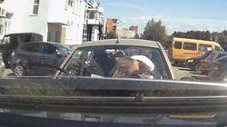 【ビデオ】なぜ? どうして? 駐車場での衝撃的な事故映像!