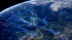 北大西洋上空では、毎日2000~3000便の飛行機が行き来している(動画)