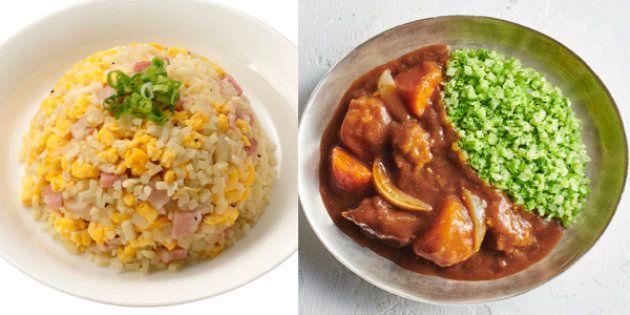 メニュー例(左:サラダクラブ 右:イオン 提供)
