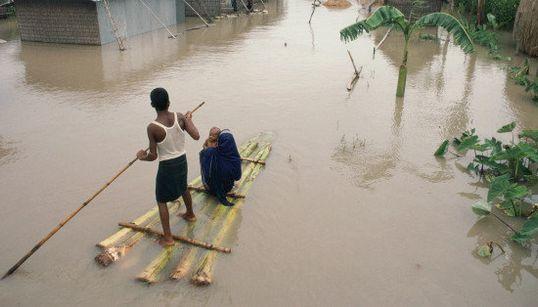世界地図で見る「気候変動の脅威に直面する国」