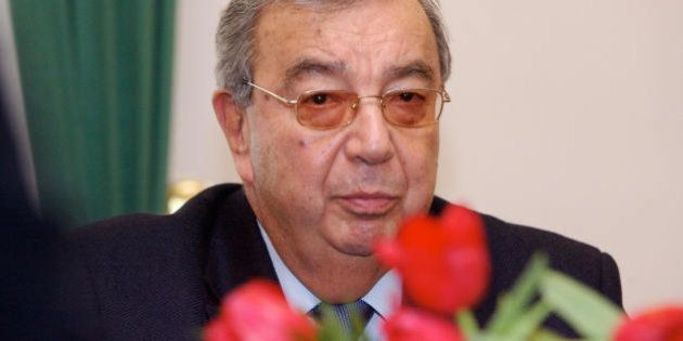 Riga, LATVIA: Former Russian Prime Minister Yevgeny Primakov is pictured during his meeting with Latvian...