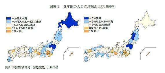 明暗が分かれる地方移住の促進-5年間の都道府県別人口移動の状況:研究員の眼