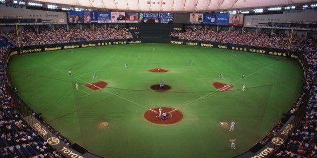 Japan, Tokyo, professional baseball game in Tokyo