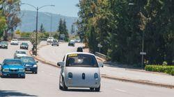 Googleの完全自動走行車、シリコンバレーを走る