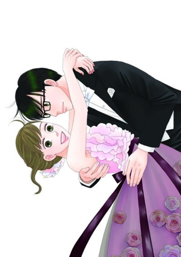 漫画「逃げるは恥だが役に立つ」の主人公、森山みくり(左)と津崎平匡(ひらまさ)