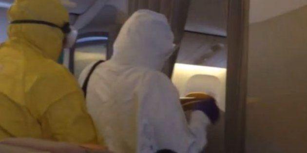【エボラ出血熱】アメリカの空港は厳戒態勢 具合が悪いと訴えただけで防護服チームに連れ出される