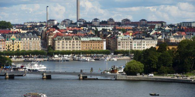 A view of buildings in Stockholm's Oestermalm, on August 24, 2012. AFP PHOTO / JONATHAN NACKSTRAND (Photo...