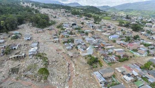 コロンビアの土石流、死者273人に その壮絶な現場写真