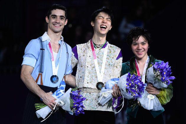 2015年のグランプリファイナルで羽生は3連覇を成し遂げ、フェルナンデスは2年連続で銀メダルに輝いた。
