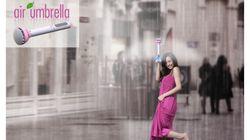 「見えない傘」 Air Umbrella