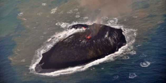 小笠原の新島、島が崩れず残る可能性