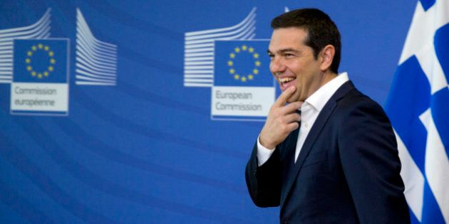 Greek Prime Minister Alexis Tsipras arrives for a meeting with European Commission President Jean-Claude...