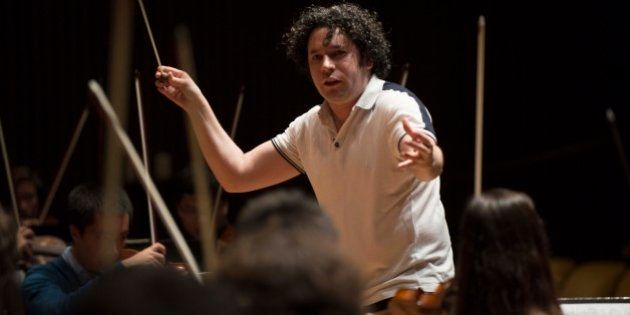 Venezuelan maestro Gustavo Dudamel, conductor of Venezuela's world-famous Simon Bolivar National Youth...