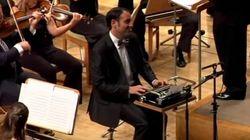 オーケストラにタイプライター!?