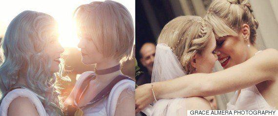 結婚式の夜、花嫁は入院中の祖母を訪ねた。ウェディングドレス姿を見せるために(画像)