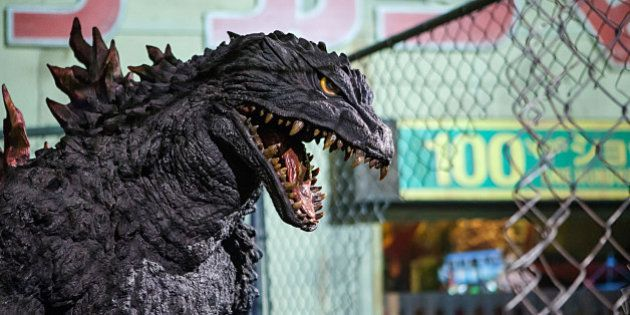 SAN DIEGO, CA - JULY 17: Godzilla invades Comic-Con International 2013 at San Diego Convention Center...