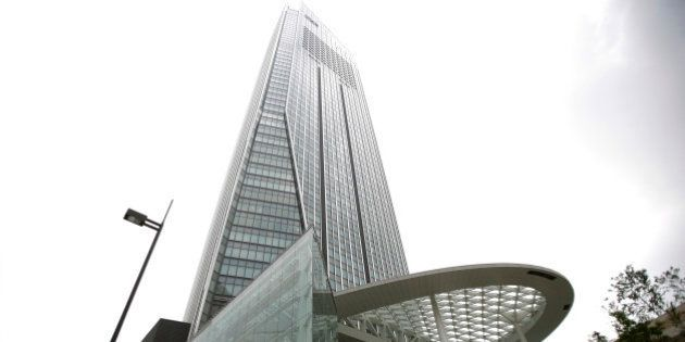 Toranomon Hills, developed by Mori Building Co., stands in Tokyo, Japan, on Monday, June 9, 2014. Mori,...
