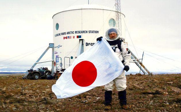 北極圏での模擬火星実験に加わった村上さん