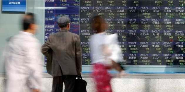 日経平均は大幅続落、リスク回避で一時1万5000円割れ