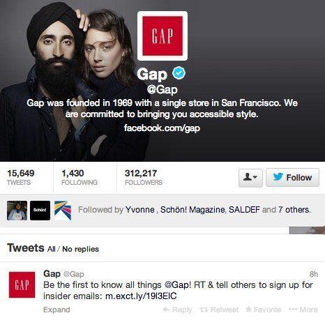 GAP社のポスター、差別的な落書きされ話題に