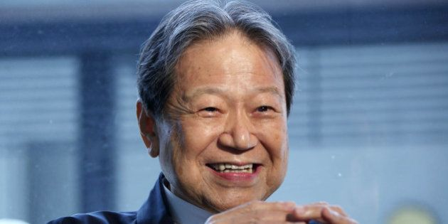 Wahei Takeda, president and founder of Takeda Confectionery Co., speaks during an interview in Nagoya,...
