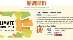 バイラルメディア「Upworthy」、「国連気候変動サミット」のスポンサードページを設置