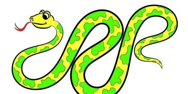 Illustration of snake. Coloring
