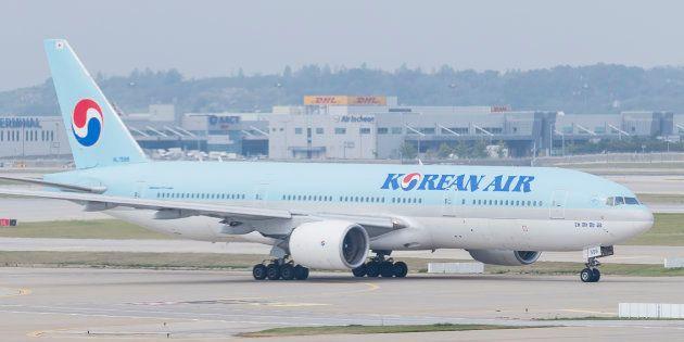 大韓航空の旅客機。2018年8月30日、韓国・仁川。