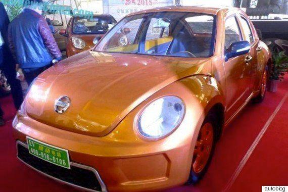 中国のメーカー、BMWとビートルをパクったEVを発表