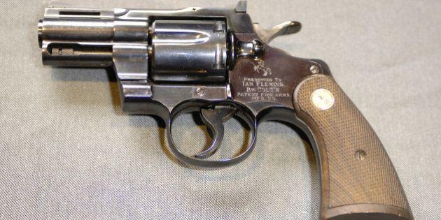 Ian Fleming's Colt Python .357 Magnum Auction during Ian Fleming's Colt .357 Magnum Auction - Photocall...