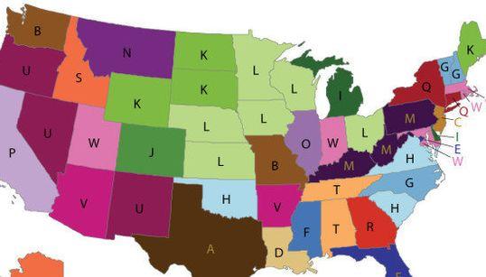 アメリカの各州で最も「ユニークな」死因を1つの地図にまとめると...