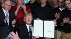 トランプ大統領、温暖化対策を撤廃する大統領令に署名