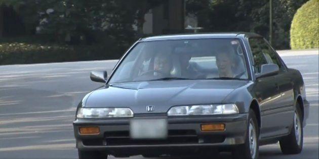 天皇陛下が皇居内で運転するホンダ・インテグラ