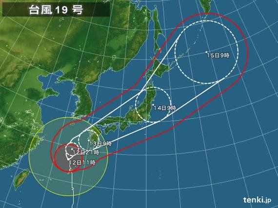 【台風情報】台風19号、スピード増し首都圏の通勤を直撃 各地のピーク時間帯まとめ(戸田よしか)
