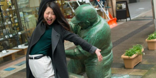 「ケツバットガール!」のドカベン像、存続ピンチ